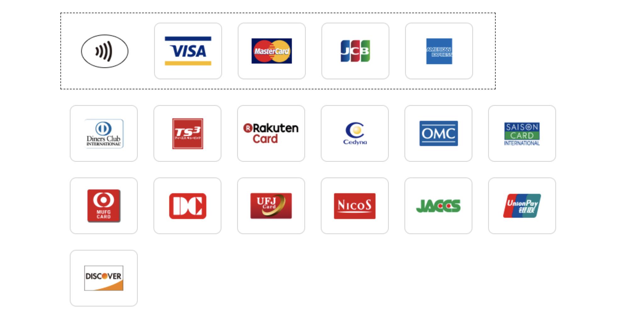 ローソンで使えるクレジットカード一覧