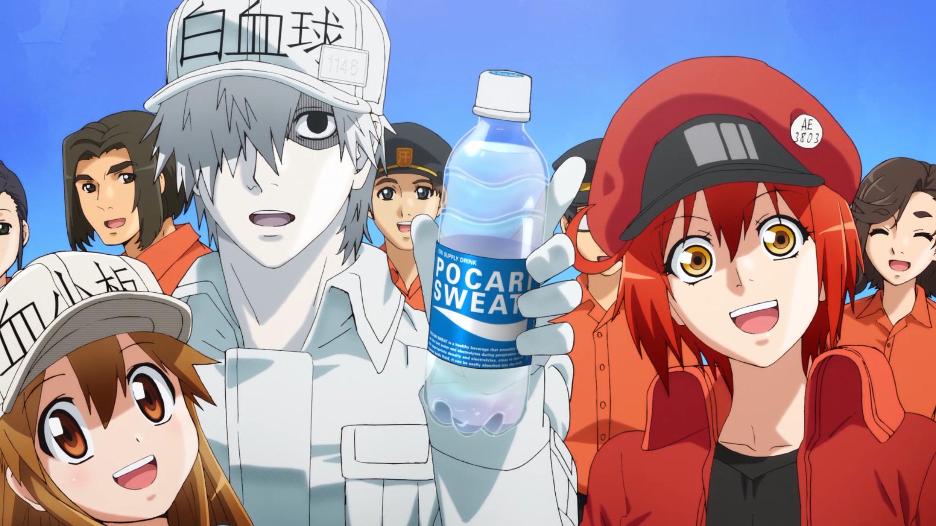 健康飲料「ポカリスエット」と体内細胞擬人化TVアニメ「はたらく細胞」がスペシャルタッグ04