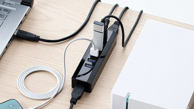 USB3.1 Gen1(USB 3.0)対応7ポートハブ400-HUB070BK00