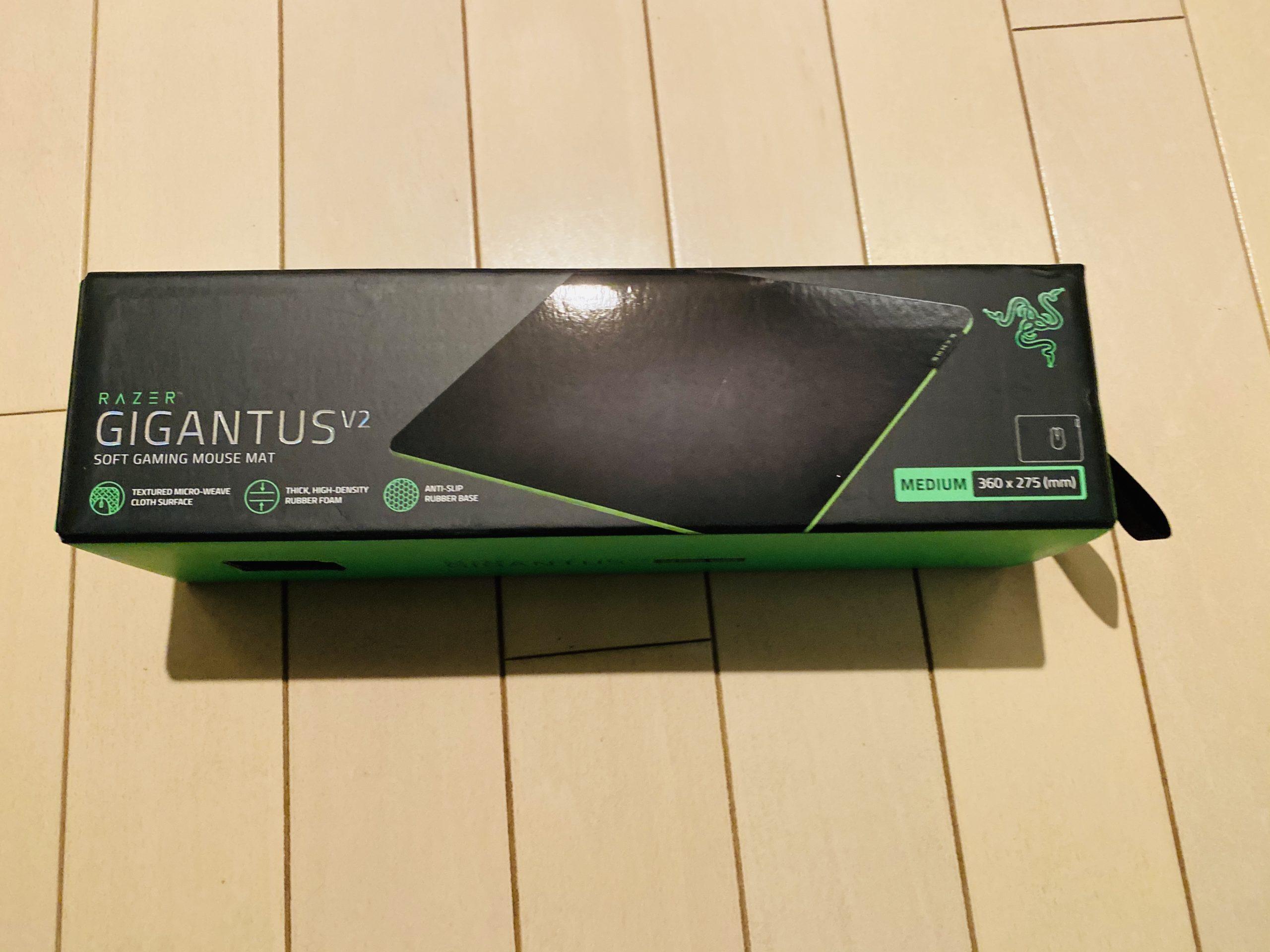 Razer Gigantus V2 – M ゲーミングマウスパッド箱